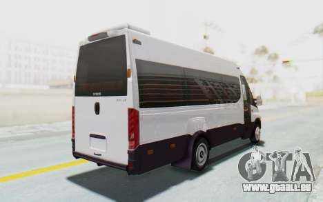 Iveco Daily Minibus 2015 pour GTA San Andreas sur la vue arrière gauche