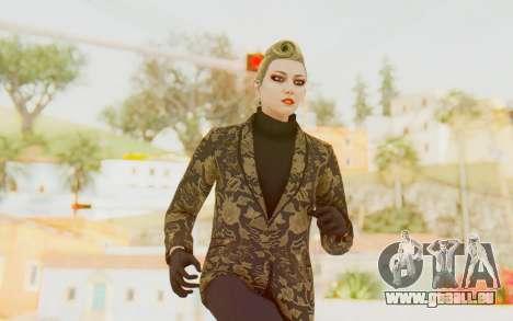 GTA 5 DLC Finance and Felony Female Skin für GTA San Andreas
