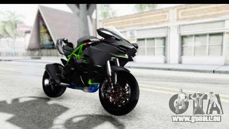 Kawasaki Ninja H2R Black pour GTA San Andreas vue de droite