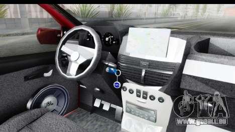 Zastava 10 1.6 pour GTA San Andreas vue intérieure