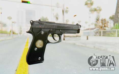 Tariq Iraqi Pistol Back v1 Silver pour GTA San Andreas deuxième écran