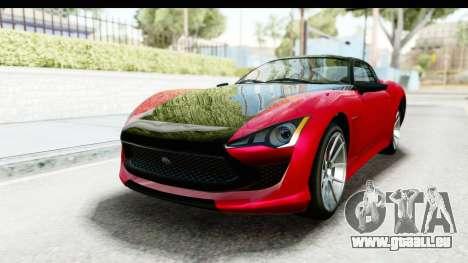 GTA 5 Lampadati Furore GT IVF pour GTA San Andreas vue de droite