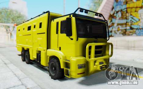 GTA 5 HVY Brickade pour GTA San Andreas sur la vue arrière gauche