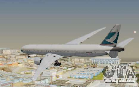 Boeing 777-300ER Cathay Pacific Airways v1 für GTA San Andreas rechten Ansicht