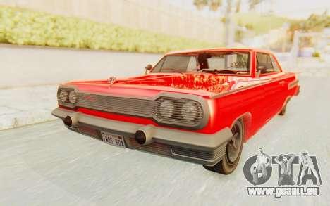 GTA 5 Declasse Voodoo Alternative v2 für GTA San Andreas rechten Ansicht
