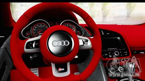Audi R8 5.2 V10 Plus LB Walk für GTA San Andreas rechten Ansicht