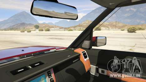 GTA 5 Land Rover Discovery 4 arrière droit vue de côté