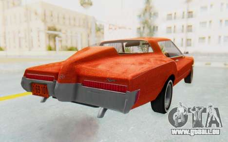 Buick Riviera 1972 Boattail Lowrider für GTA San Andreas zurück linke Ansicht