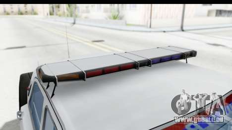 ГАЗ 24 la Police Highway Patrol pour GTA San Andreas vue de côté