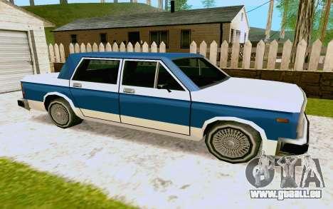 Bobcat Sedan pour GTA San Andreas sur la vue arrière gauche
