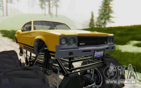 Declasse Sabre Turbo XL pour GTA San Andreas vue arrière