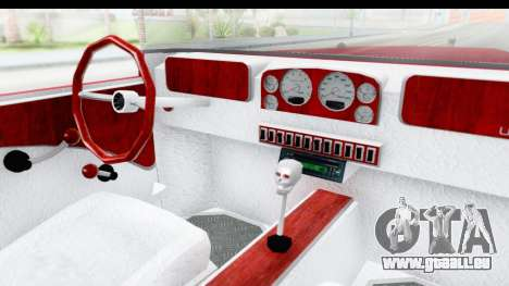Unique V16 Phaeton pour GTA San Andreas vue intérieure
