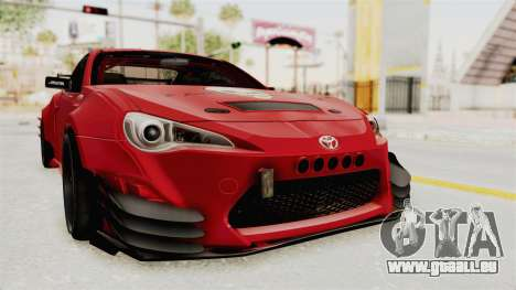 Toyota GT86 Drift Edition für GTA San Andreas rechten Ansicht