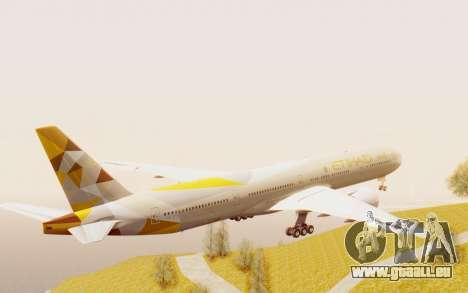 Boeing 777-300ER Etihad Airways für GTA San Andreas rechten Ansicht