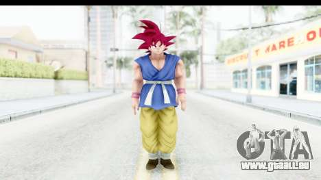 Dragon Ball Xenoverse Goku GT Adult SSG pour GTA San Andreas deuxième écran