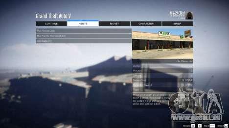 GTA 5 Heist Project 0.4.32.678 sechster Screenshot