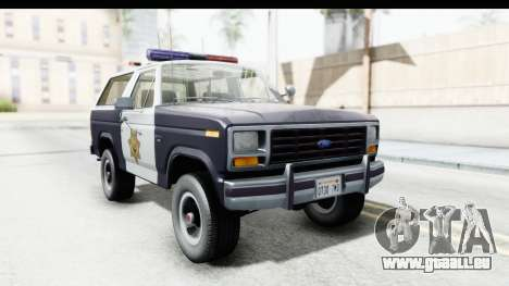 Ford Bronco 1982 Police pour GTA San Andreas