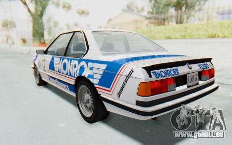 BMW M635 CSi (E24) 1984 HQLM PJ3 pour GTA San Andreas vue de dessous