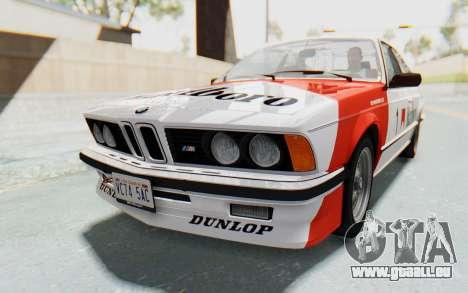 BMW M635 CSi (E24) 1984 HQLM PJ1 für GTA San Andreas Rückansicht