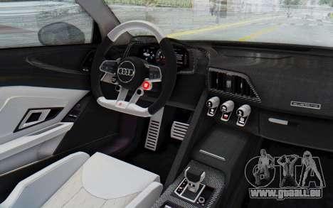 Audi R8 2017 pour GTA San Andreas vue intérieure