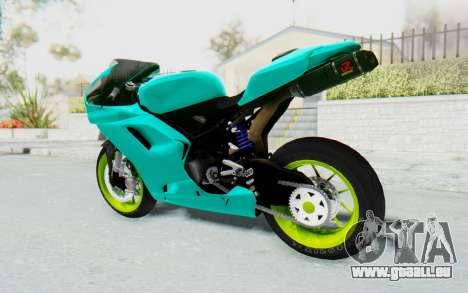 Ducati 1098R Streetrace pour GTA San Andreas laissé vue