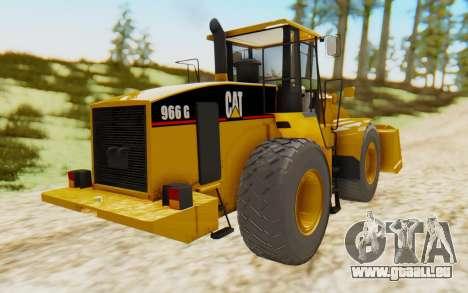 Caterpillar 966 GII pour GTA San Andreas sur la vue arrière gauche