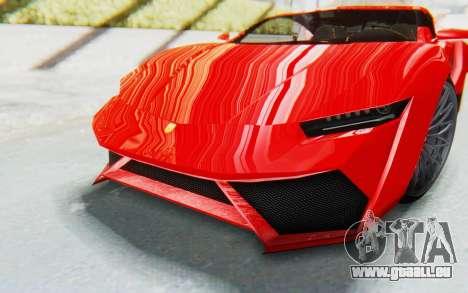 GTA 5 Pegassi Reaper IVF pour GTA San Andreas vue intérieure