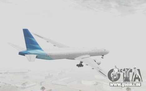 Boeing 777-300ER Garuda Indonesia für GTA San Andreas rechten Ansicht