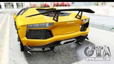 Lamborghini Aventador LP700-4 LB Walk pour GTA San Andreas vue de dessous