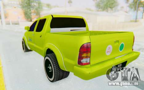 Toyota Hilux Malaysia Airports Green pour GTA San Andreas laissé vue