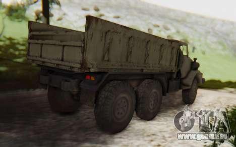 MGSV Phantom Pain Zi-GRA 6T Truck pour GTA San Andreas sur la vue arrière gauche