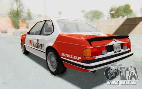 BMW M635 CSi (E24) 1984 HQLM PJ1 für GTA San Andreas Innenansicht