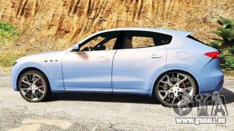 GTA 5 Maserati Levante 2017 [add-on] vue latérale gauche