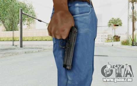 Tariq Iraqi Pistol Back v1 Black für GTA San Andreas dritten Screenshot