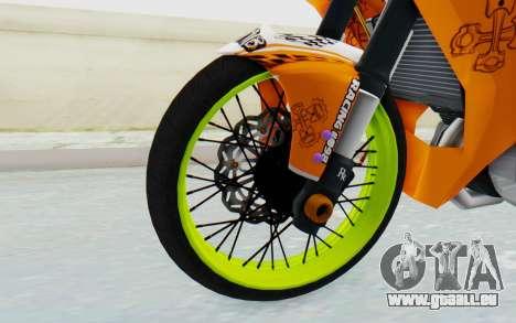 Yamaha Jupiter MX 135 Roadrace pour GTA San Andreas vue arrière