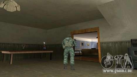 L'atmosphère de soldat en tenue de camouflage de pour GTA San Andreas deuxième écran