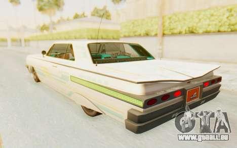 GTA 5 Declasse Voodoo Alternative v2 pour GTA San Andreas roue