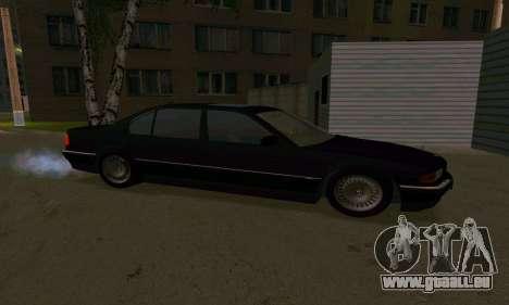 BMW 740i E38 pour GTA San Andreas vue arrière