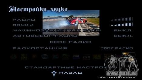 New menu für GTA San Andreas achten Screenshot