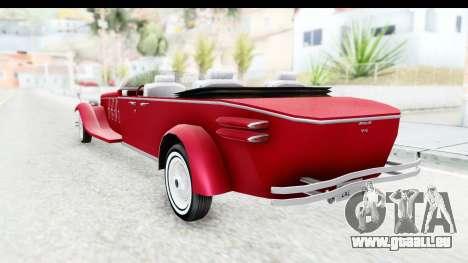 Unique V16 Phaeton pour GTA San Andreas laissé vue