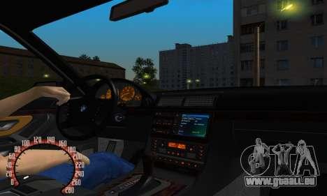 BMW 740i E38 pour GTA San Andreas vue intérieure