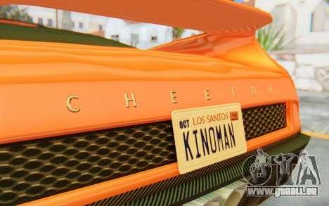 GTA 5 Grotti Cheetah IVF für GTA San Andreas Innenansicht