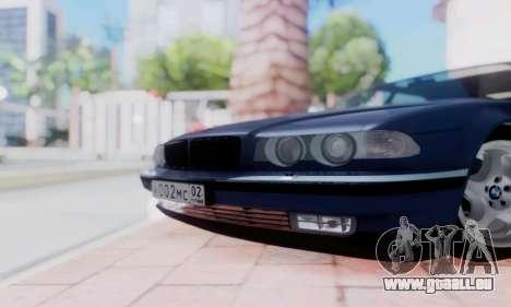BMW 750 für GTA San Andreas Rückansicht