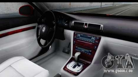 Skoda Superb Red Taxi für GTA San Andreas Innenansicht