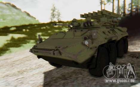 MGSV Phantom Pain ZHUK APC Tank pour GTA San Andreas sur la vue arrière gauche