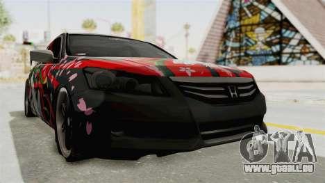 Honda Accord 2011 Hatsune Miku Senbonzakura pour GTA San Andreas vue de droite