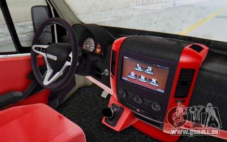Iveco Daily Minibus 2015 pour GTA San Andreas vue arrière