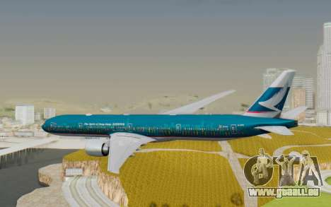 Boeing 777-300ER Cathay Pacific Airways v2 für GTA San Andreas rechten Ansicht