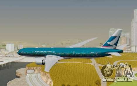 Boeing 777-300ER Cathay Pacific Airways v2 pour GTA San Andreas vue de droite