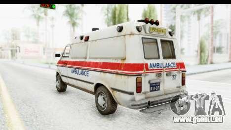 MGSV Phantom Pain Ambulance pour GTA San Andreas laissé vue